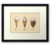 Ice-Cream Cones Framed Print