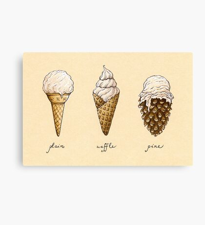 Ice-Cream Cones Canvas Print