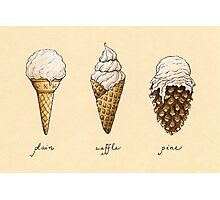 Ice-Cream Cones Photographic Print