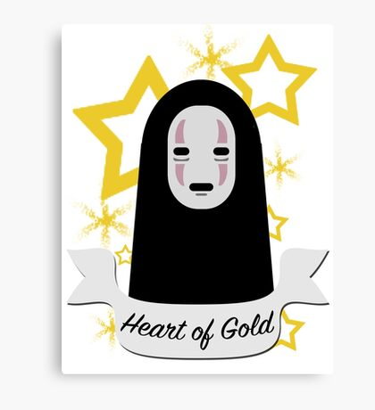 No Face Heart of Gold Canvas Print