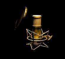 Golden microphone by enolabrain
