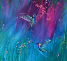 Rainbow Birds by Jane Delaford Taylor