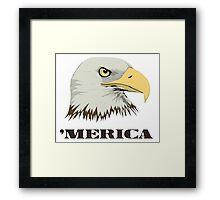 American Bald Eagle For Merica Framed Print