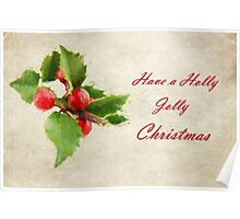 A Holly Jolly Christmas Poster
