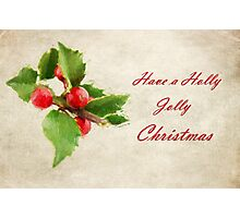 A Holly Jolly Christmas Photographic Print