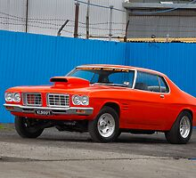 Orange Holden HQ Monaro by John Jovic