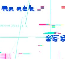 Blue Glitch of Death Sticker