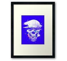Blue Glitch of Death Framed Print