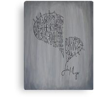 Half of My Heart Canvas Print