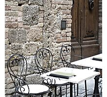 Cream Cafe - Tuscany Photographic Print