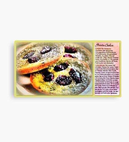 Green Tea Cookies with Cranberries Canvas Print