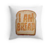 I am Bread 'Toast' logo - Official Merchandise Throw Pillow