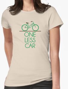 One Less Car Earth Friendly Bicycle Womens Fitted T-Shirt
