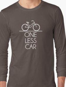One Less Car Earth Friendly Bicycle Long Sleeve T-Shirt