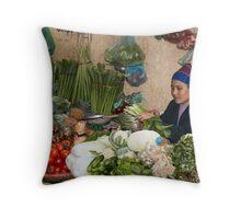 Market Throw Pillow