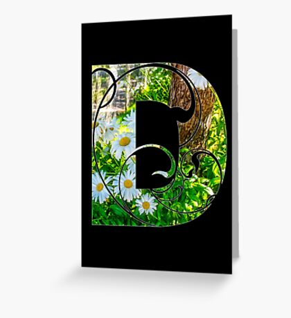D is for daisy Greeting Card
