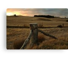 Sunset,Pyrenees near Amphitheatre Canvas Print