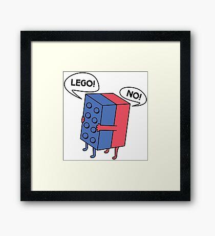 Lego! No! Framed Print