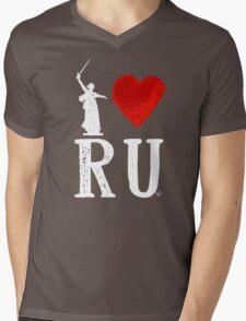 I Heart Russia white by Tai's Tees Mens V-Neck T-Shirt