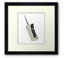 Vintage Wireless Cellular Phone Framed Print