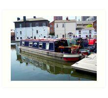 Canal barge Art Print