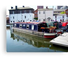 Canal barge Canvas Print