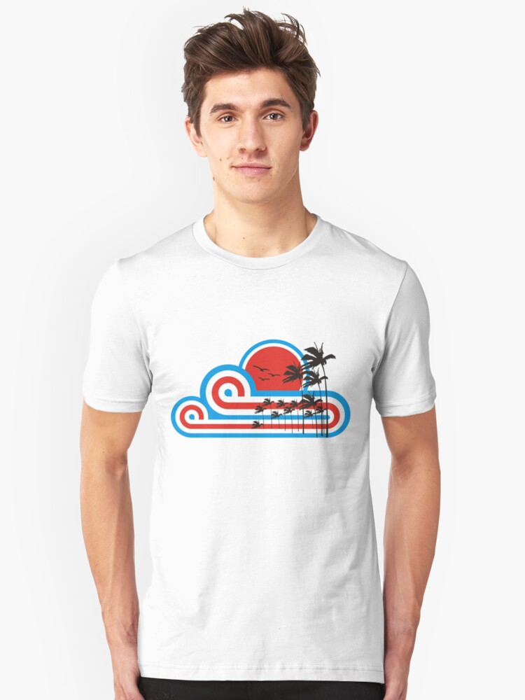 RETRO SUNSET by Awesome Rave T-Shirts