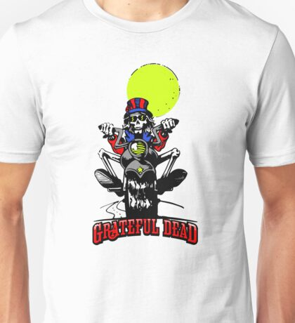 Grateful Dead - Skeleton Biker Unisex T-Shirt