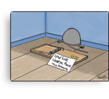 Dieting Cartoon Canvas Print