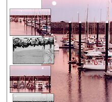 Full Moon over Mackay Harbour by Ann Williams-Fitzgerald