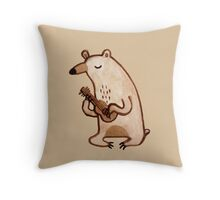 Ukulele Bear Throw Pillow