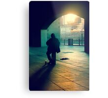 the busker Metal Print