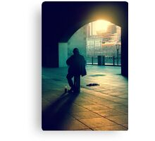 the busker Canvas Print