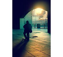 the busker Photographic Print