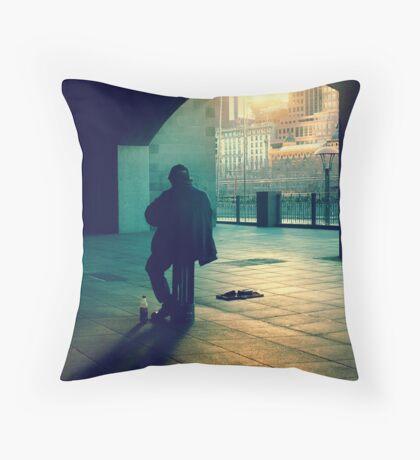 the busker Throw Pillow