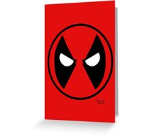 Hero Circles - Deadpool Greeting Card
