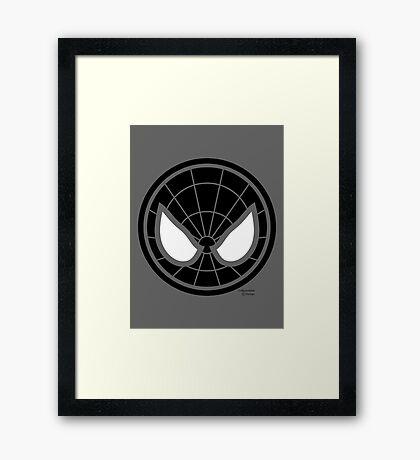 Hero Circles - Black Spidey Framed Print