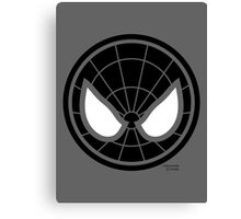 Hero Circles - Black Spidey Canvas Print