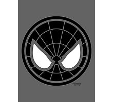 Hero Circles - Black Spidey Photographic Print