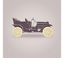 Oldtimer / Historic Car with lemon wheels Photographic Print