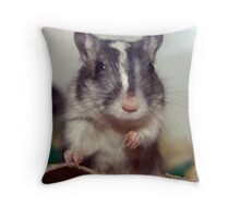Cheeky Little Rodent Throw Pillow