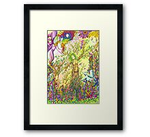 Tree woman, we all come from the Earth Framed Print