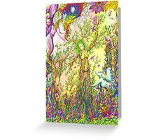 Tree woman, we all come from the Earth Greeting Card