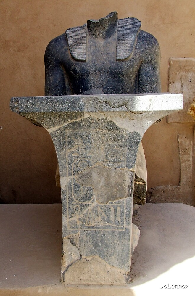 Headless Statute At Karnak Temple by JoLennox
