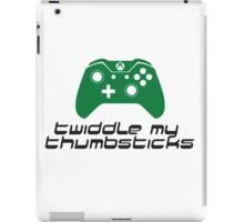 Twiddle My Thumbsticks (Xbox One) iPad Case/Skin