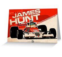 James Hunt - F1 1977 Greeting Card