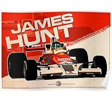 James Hunt - F1 1977 Poster