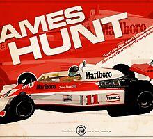 James Hunt - F1 1976 by Evan DeCiren