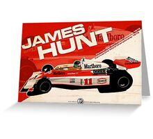 James Hunt - F1 1976 Greeting Card