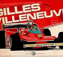 Gilles Villeneuve - F1 1979 by Evan DeCiren